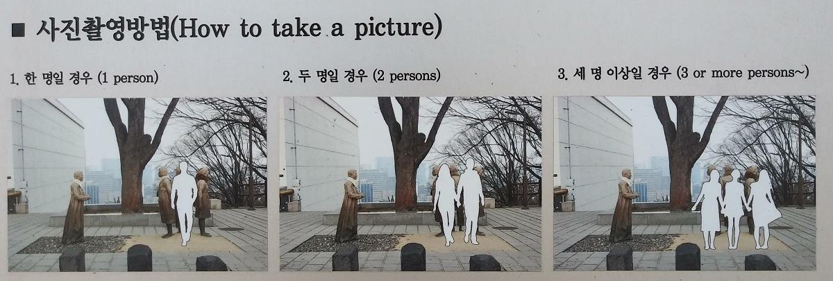 기림비에서 함께 사진 찍는 방법 ©오하라미