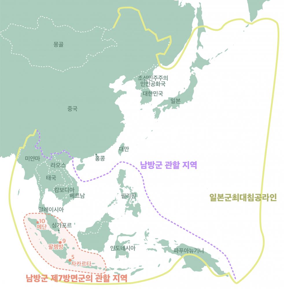 인도네시아 일본군 위안소 지도
