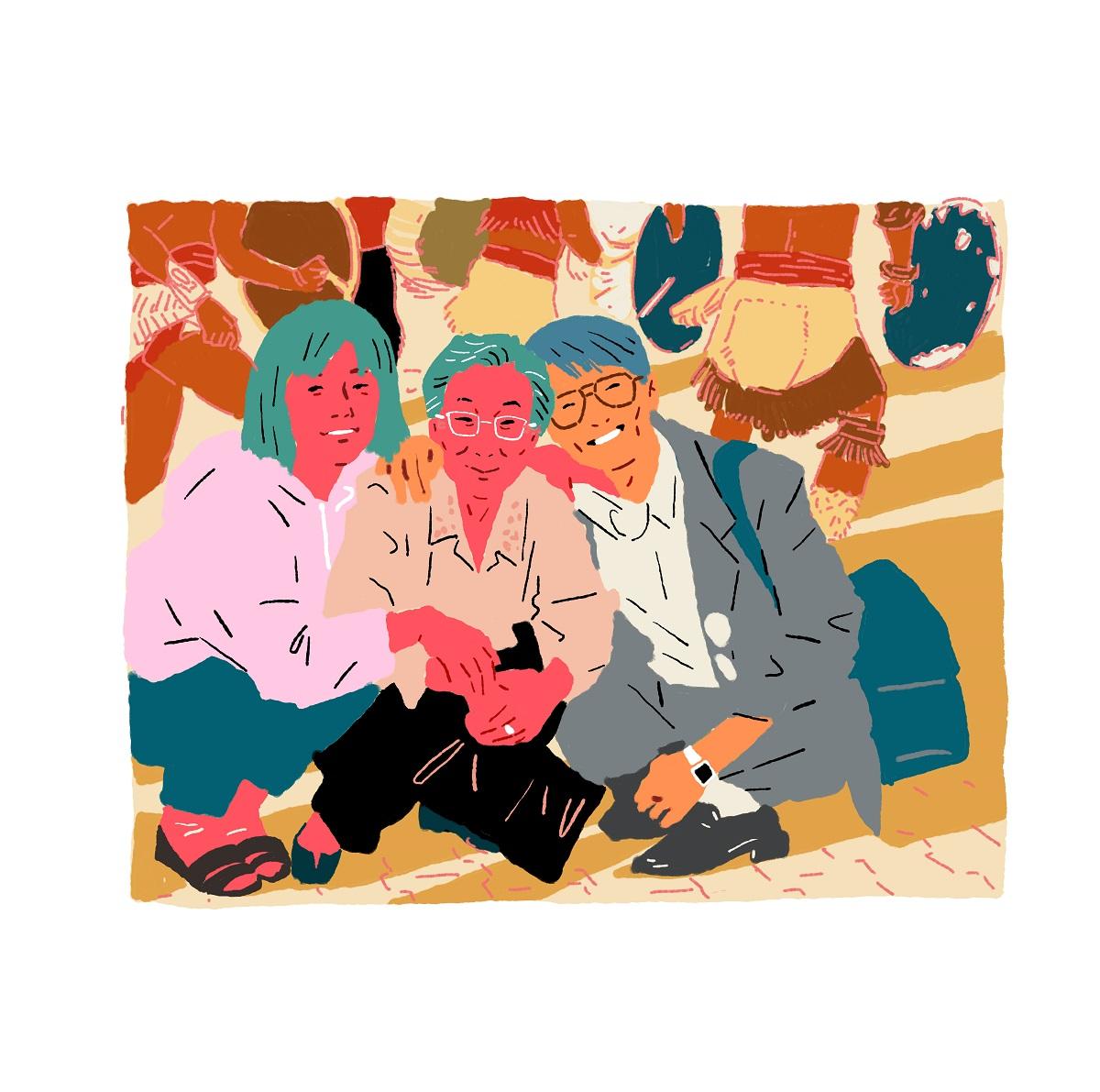 『할머니, 우리 할머니』 속 김복동(가운데) 님 ©한성원 작가