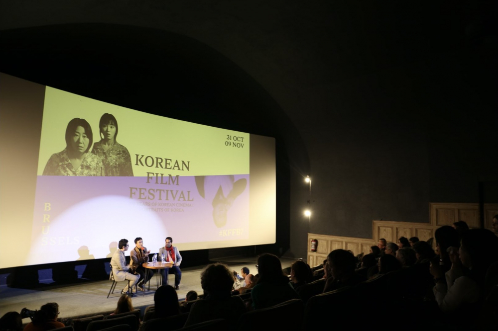2019년 11월, 제7회 브뤼셀한국영화제에 초청되어 상영되었다. 약 150여 명의 관객들이 영화를 감상하고 김복동의 삶의 의미에 공감해 주었다. (사진 제공: 송원근)
