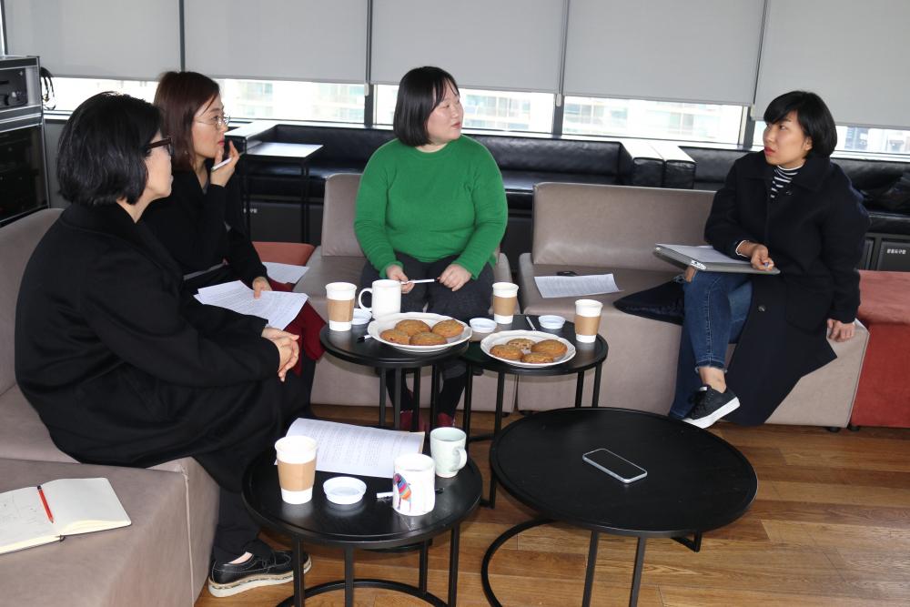 (왼쪽부터) 권은선, 김청강, 허윤, 오혜진