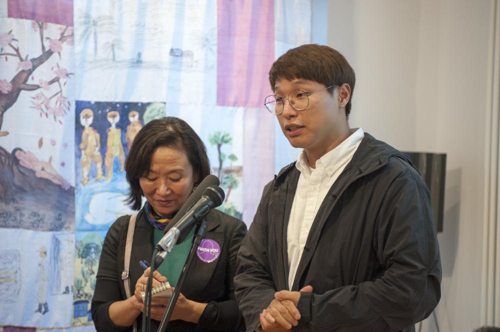 나눔의 집 김대월 학예실장 (오른쪽, 김대월 제공)