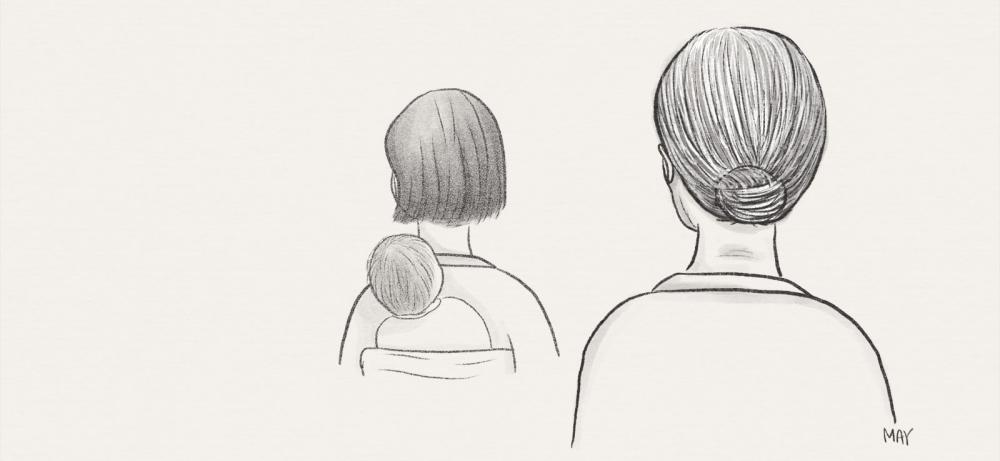 다미 씨 뒷모습 일러스트 ⓒ백정미 디자이너