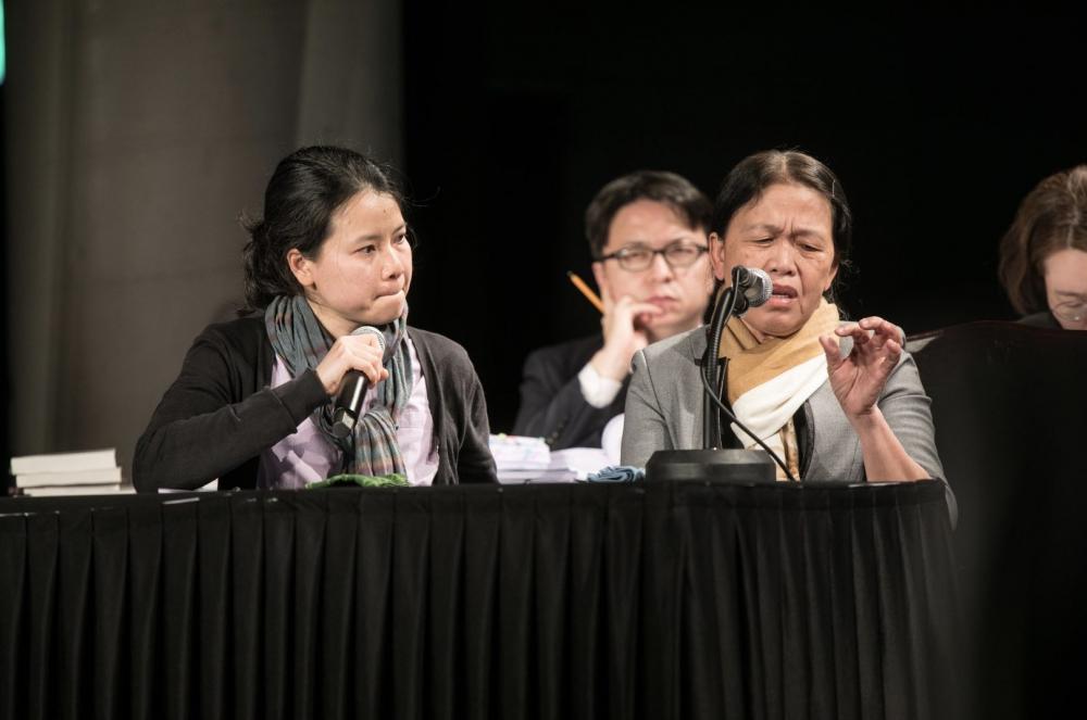 증언하는 하미 마을 응우옌티탄 (사진 제공 : 시민평화법정 준비위원회)