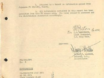 포로 심문보고서, '위안부' 관련 연합군 기록의 가장 기초적인 자료